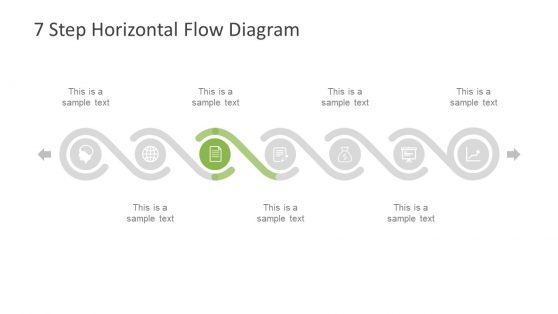 process flow diagram with timeline powerpoint