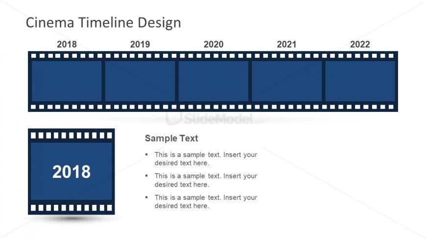 Editable Timeline and Planning PPT Cinema - SlideModel