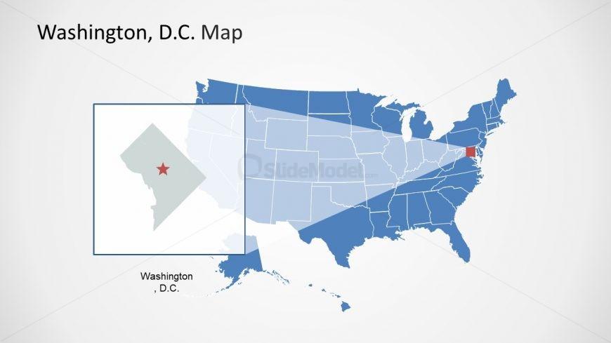 USA Map Washington DC Map PPT - SlideModel