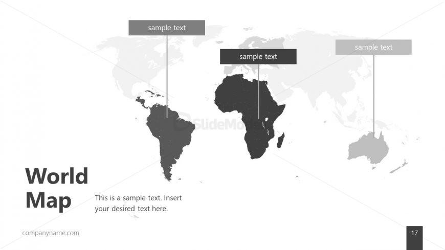 Editable World Map Slide - SlideModel