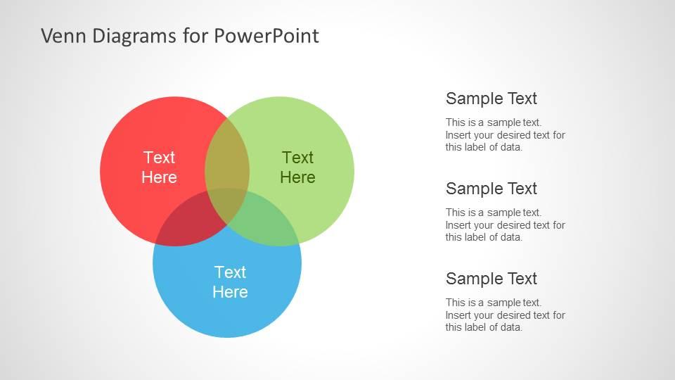 Colorful Venn Diagrams for PowerPoint - SlideModel
