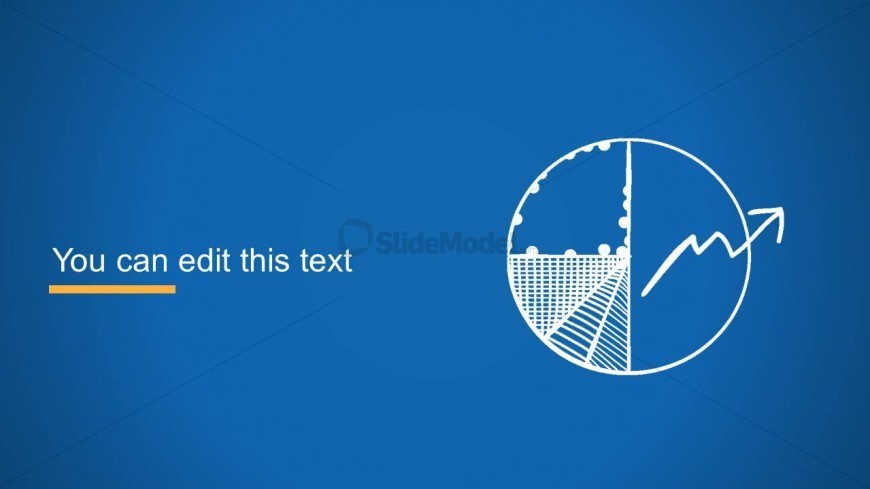 Pie Chart Slide Design Over Blue Background - SlideModel