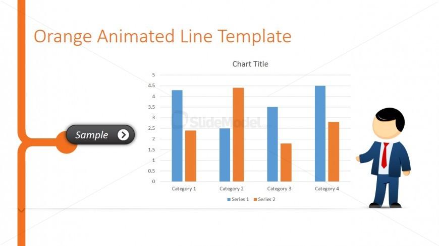Male Cartoon Presenting a Bar Chart in PowerPoint - SlideModel - bar chart template