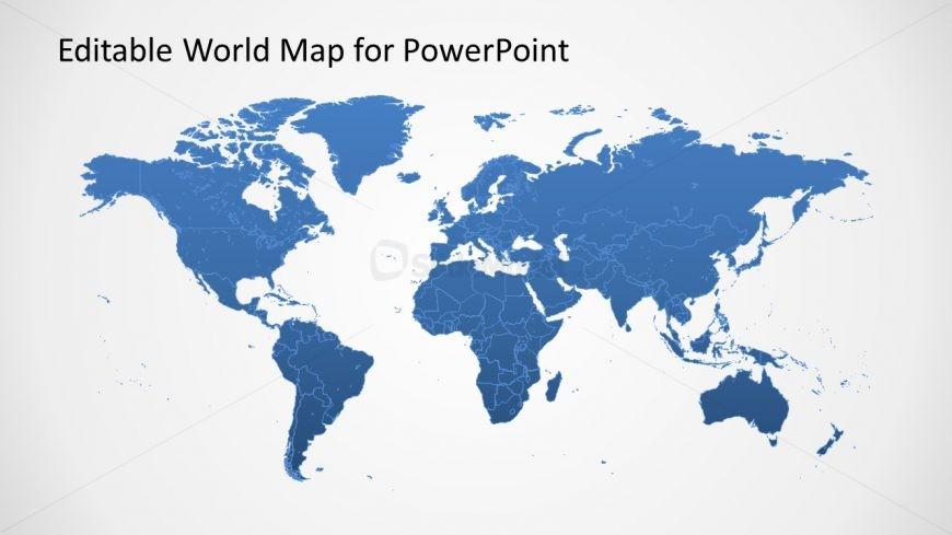 Editable World Map for PowerPoint - SlideModel