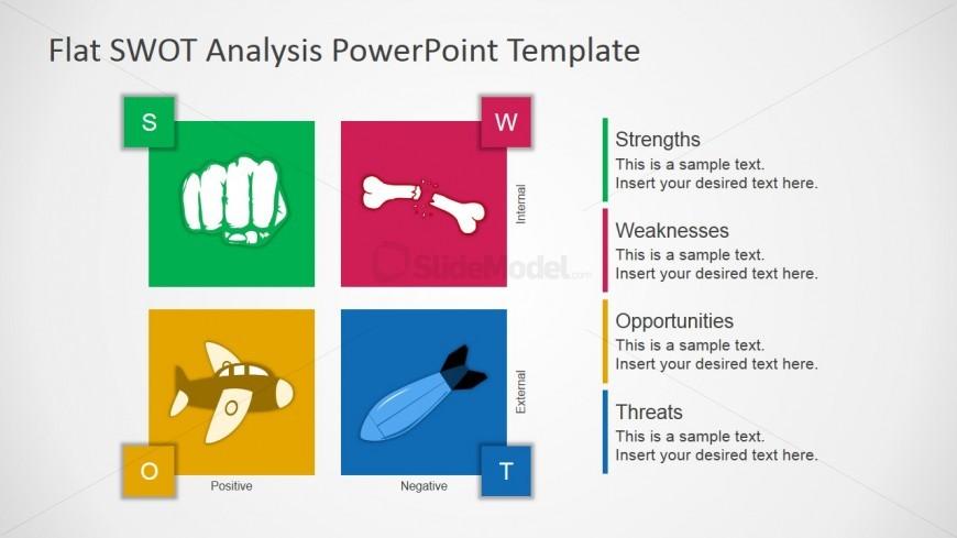 Flat Design Free SWOT Presentation Template - SlideModel - free swot template
