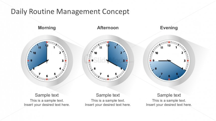 Free Routine Clock Schedule Template For PowerPoint - SlideModel