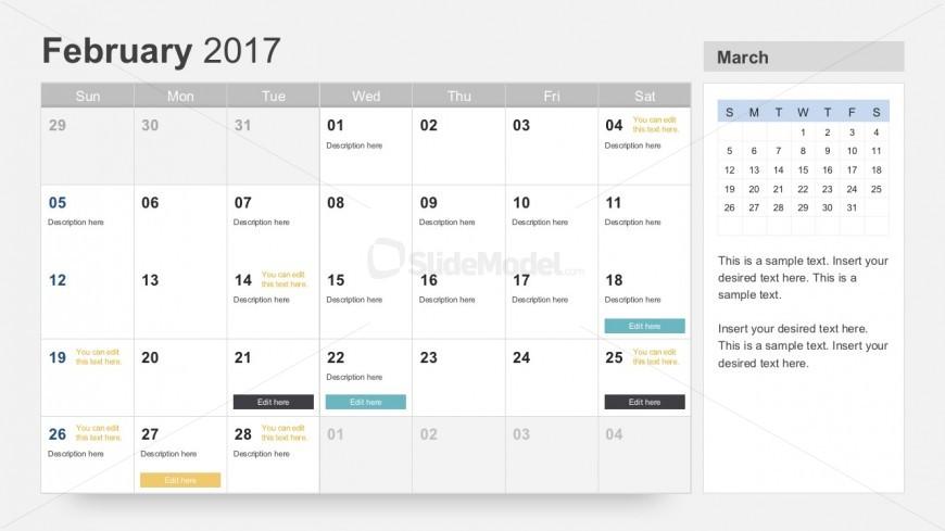 Free Project Calendar Planner 2017 - SlideModel - powerpoint calendar template