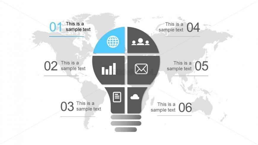 Global PowerPoint Template Lightbulb Idea - SlideModel - global powerpoint template