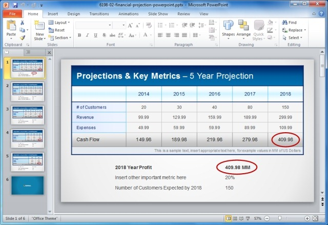 Financial Statement Templates For PowerPoint Presentations - financial statement template