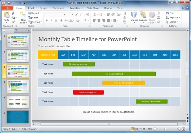 Creative Templates For Gantt Charts  Project Planning in PowerPoint - template for timeline chart