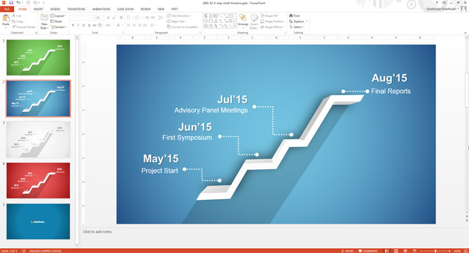 How To Edit the Timeline Template in PowerPoint - SlideModel