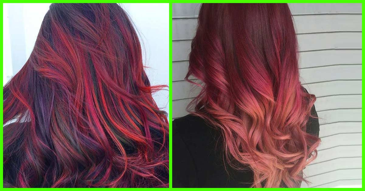 Hair Styling Devices 20 Radical Styling Ideas For Your Red Ombre Hair