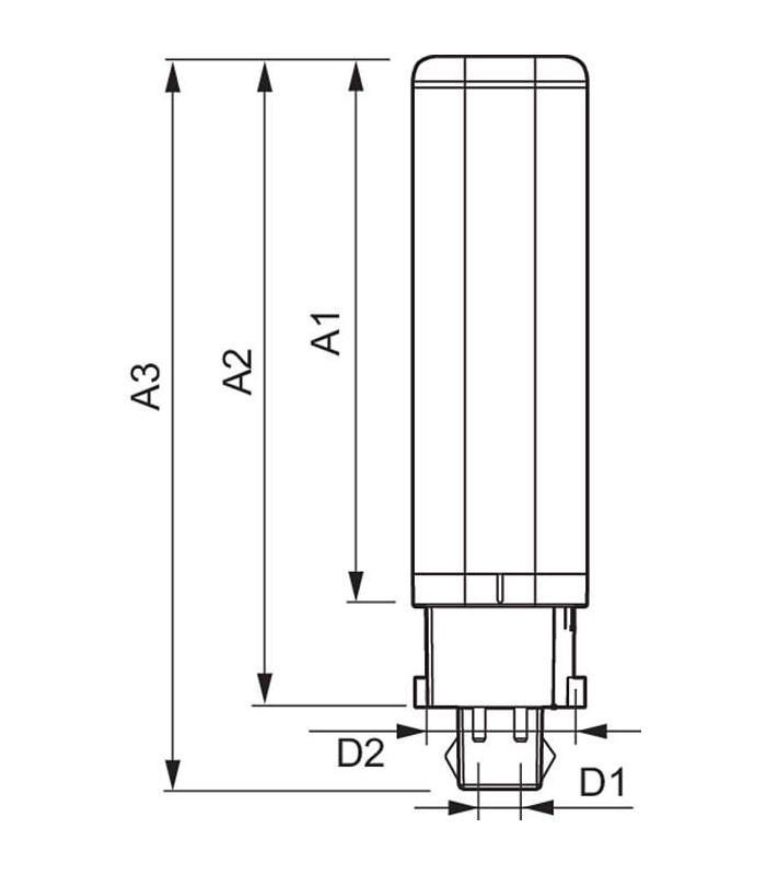 Philips CorePro Led PLC 65W 830 4P G24q 2 G24 lamps Svetila