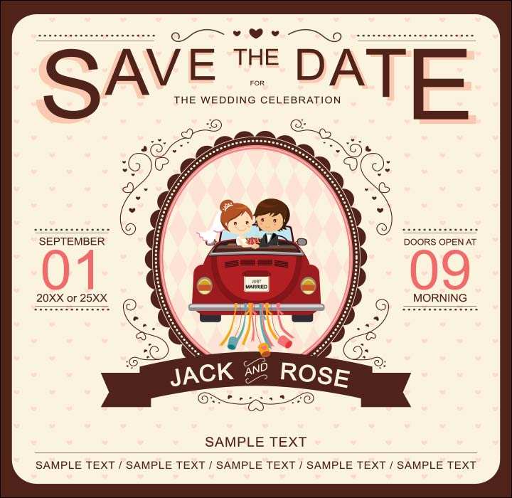 Invitation Card For Wedding Layout 10 Super Adorable Cartoon Wedding Invitations For The Fun
