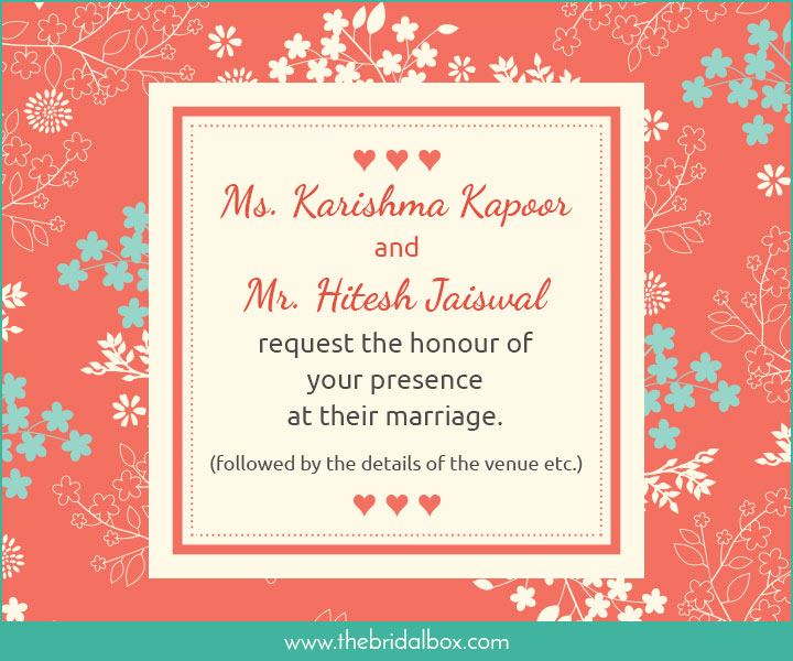 50 Wedding Invitation Wording Ideas You Can Totally Use!
