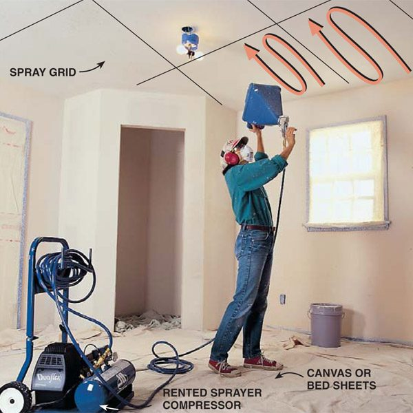 Knock Down Ceiling How To Apply Knock-down Ceiling Texture | The Family Handyman
