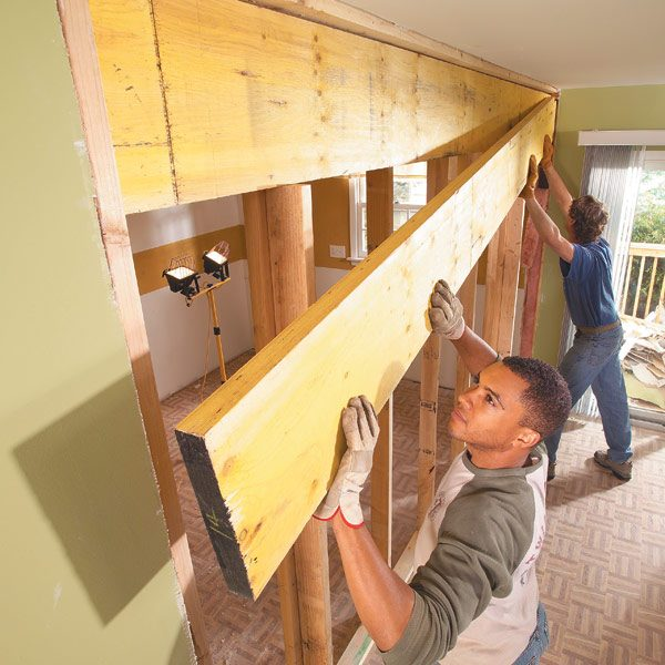 When Do You Need A Building Permit How To Install A Load-bearing Beam | The Family Handyman