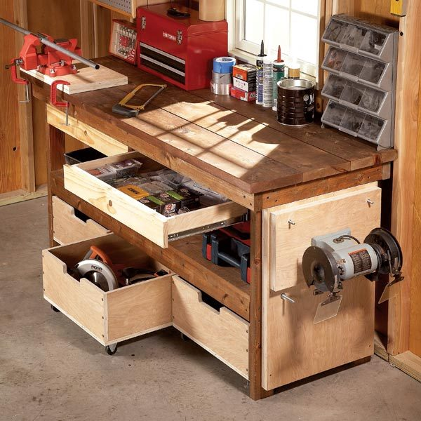 Do It Yourself Einrichtung Diy Workbench Upgrades | The Family Handyman