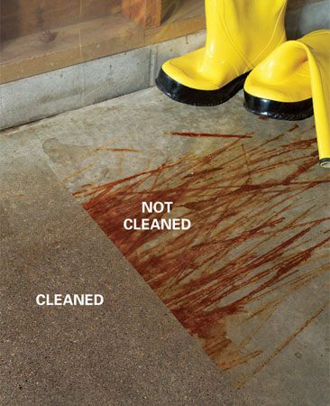 Removing Oil, Paint And Other Concrete Stains Test | The Family