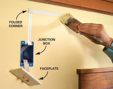 How To Hide Wiring Speaker and Low-Voltage Wire The Family Handyman