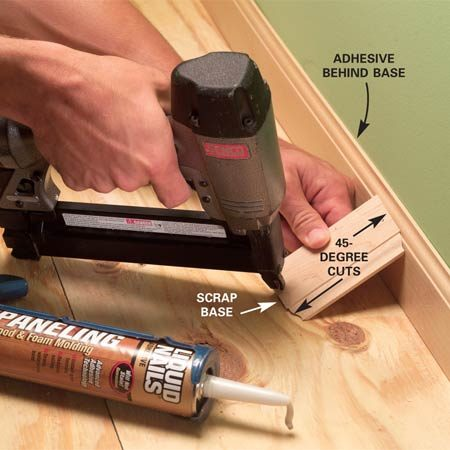 How To Install Baseboard Molding, Even On Crooked Walls | The