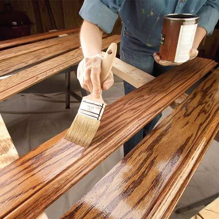 Finishing Wood Trim With Stain And Varnish | The Family Handyman