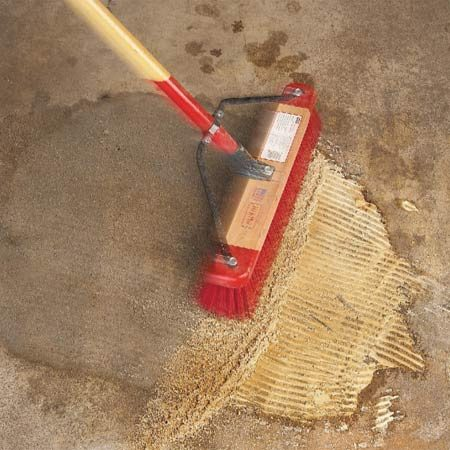 Clean Garage Floors - Remove Oil Stains From Concrete | The Family
