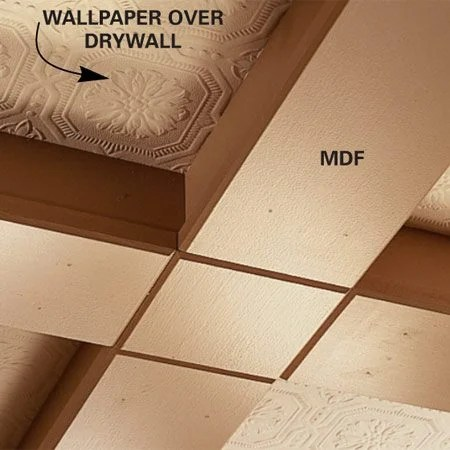 Fall Ceiling Wallpaper Ceiling Panels How To Install A Beam And Panel Ceiling