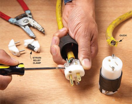 How to Repair a Cut Extension Cord The Family Handyman