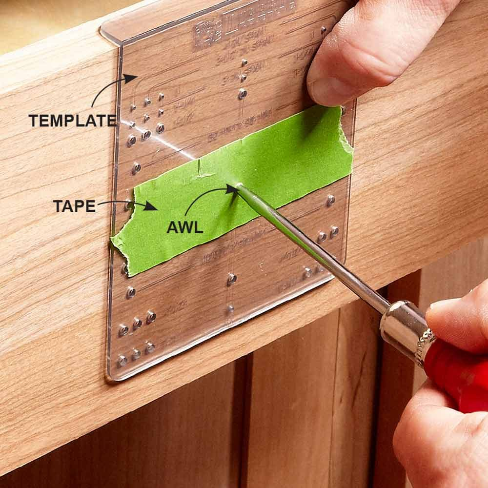 how to install cabinet hardware kitchen cabinets hardware Cover Unused Holes With Tape