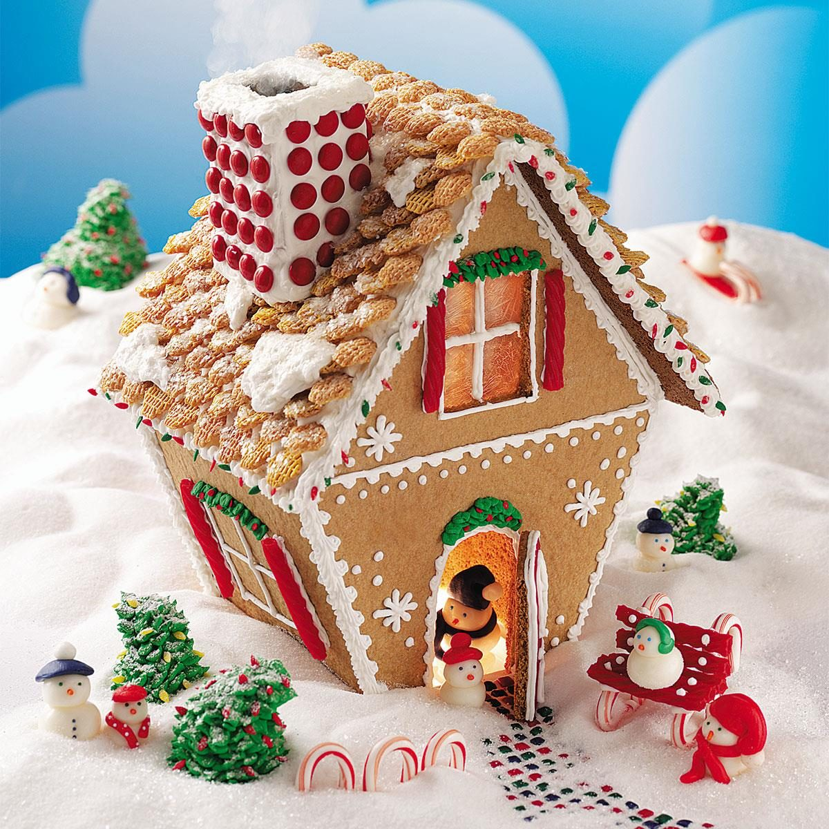 Cute Kiwi Wallpaper Winter Wonderland Gingerbread Cottage Recipe Taste Of Home