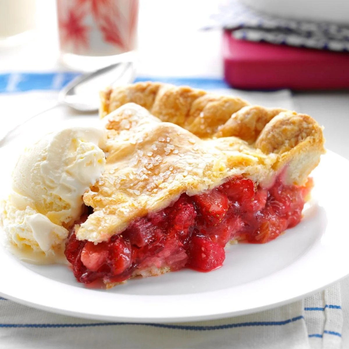 Farmhouse Rules Salad Recipes Winning Rhubarb Strawberry Pie Recipe Taste Of Home
