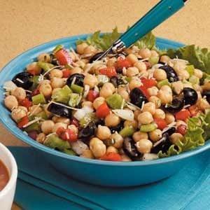 Favorite Garbanzo Bean Salad Recipe | Taste of Home