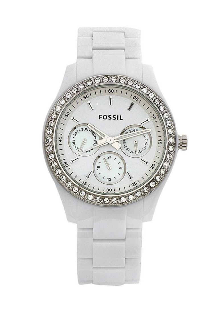Fossil Riley Fossil Riley Round Dial White Analog Watch For Women Footwear