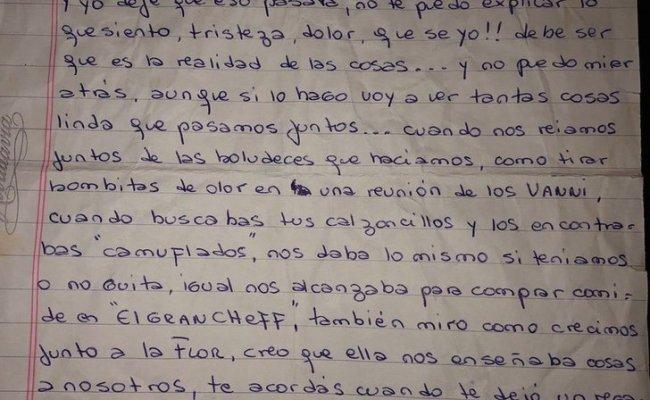 Escribió Una Carta Llena De Amor A Su Esposo Antes De