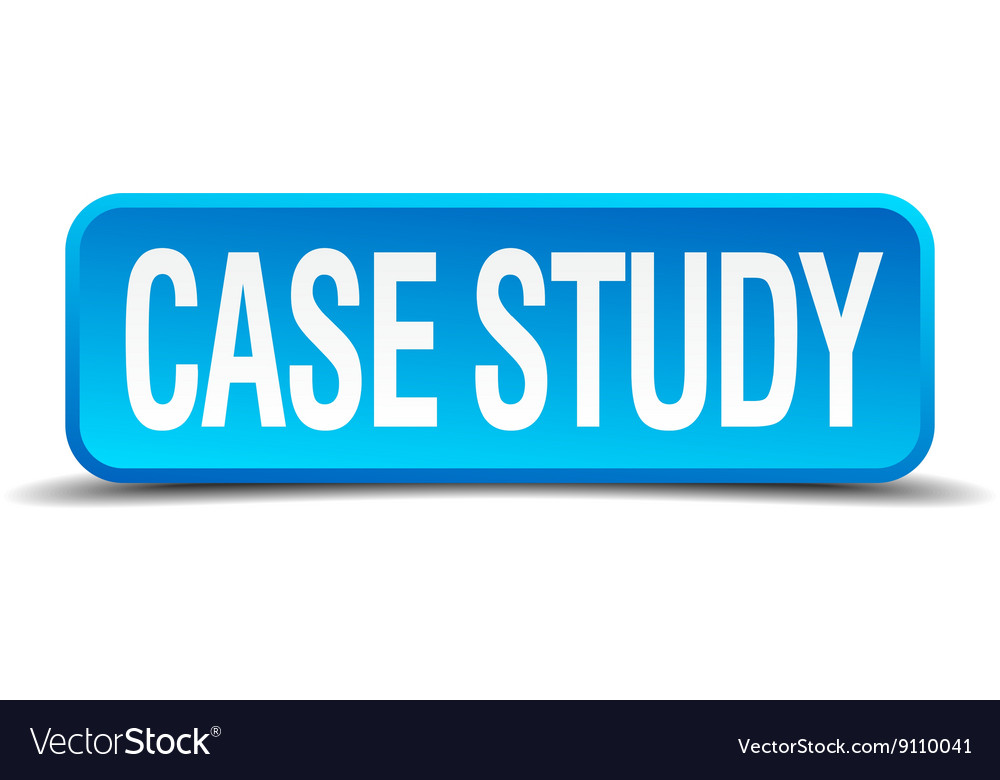 Case study blue 3d realistic square isolated Vector Image