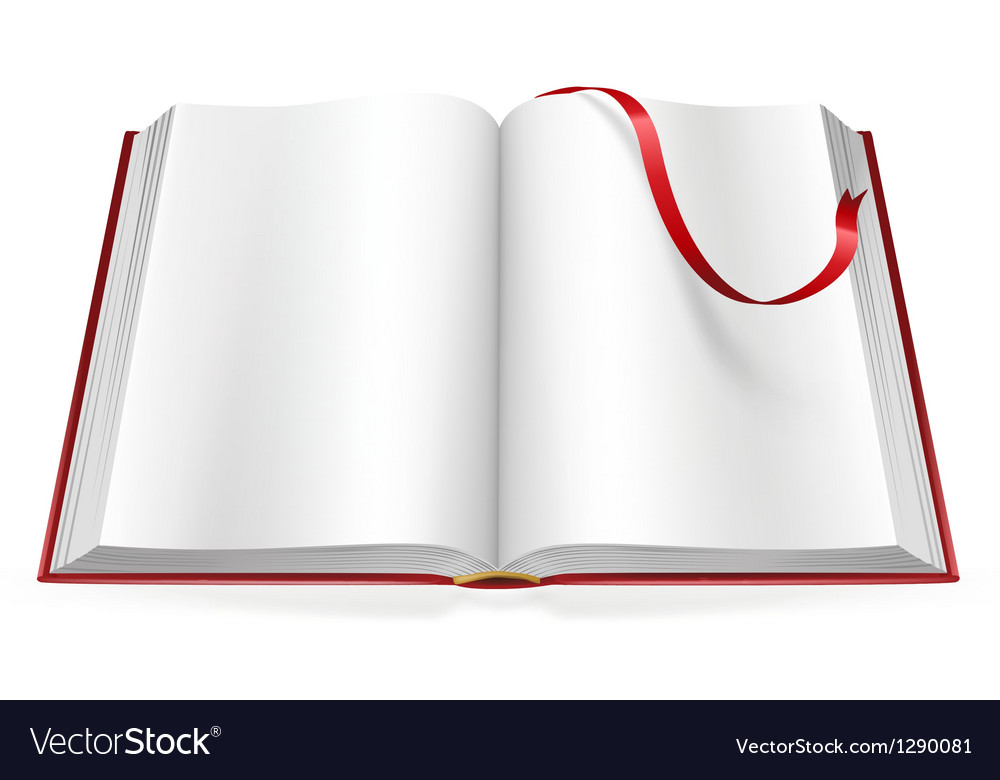 Open book with blank pages and sign Royalty Free Vector
