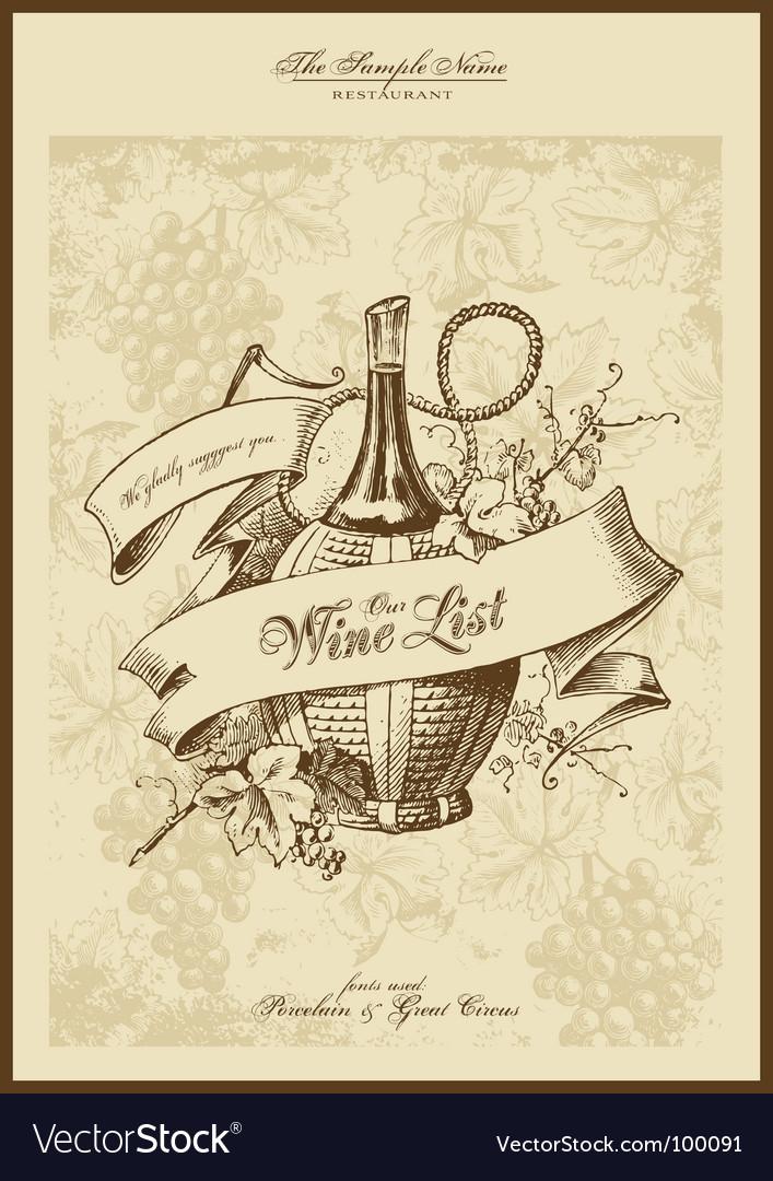 Wine list Royalty Free Vector Image - VectorStock