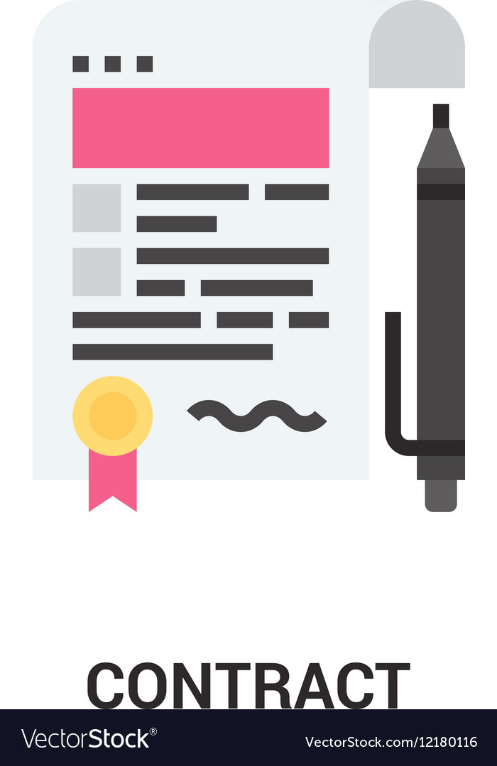 Contract icon concept Royalty Free Vector Image