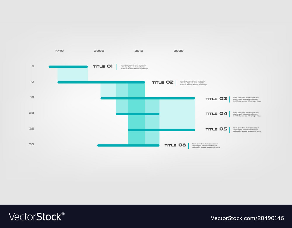 Gant infographic element of chart graph diagram Vector Image