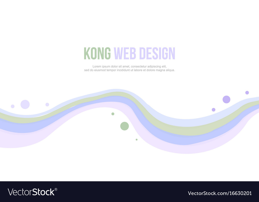 Abstract header website wave and bubble design Vector Image
