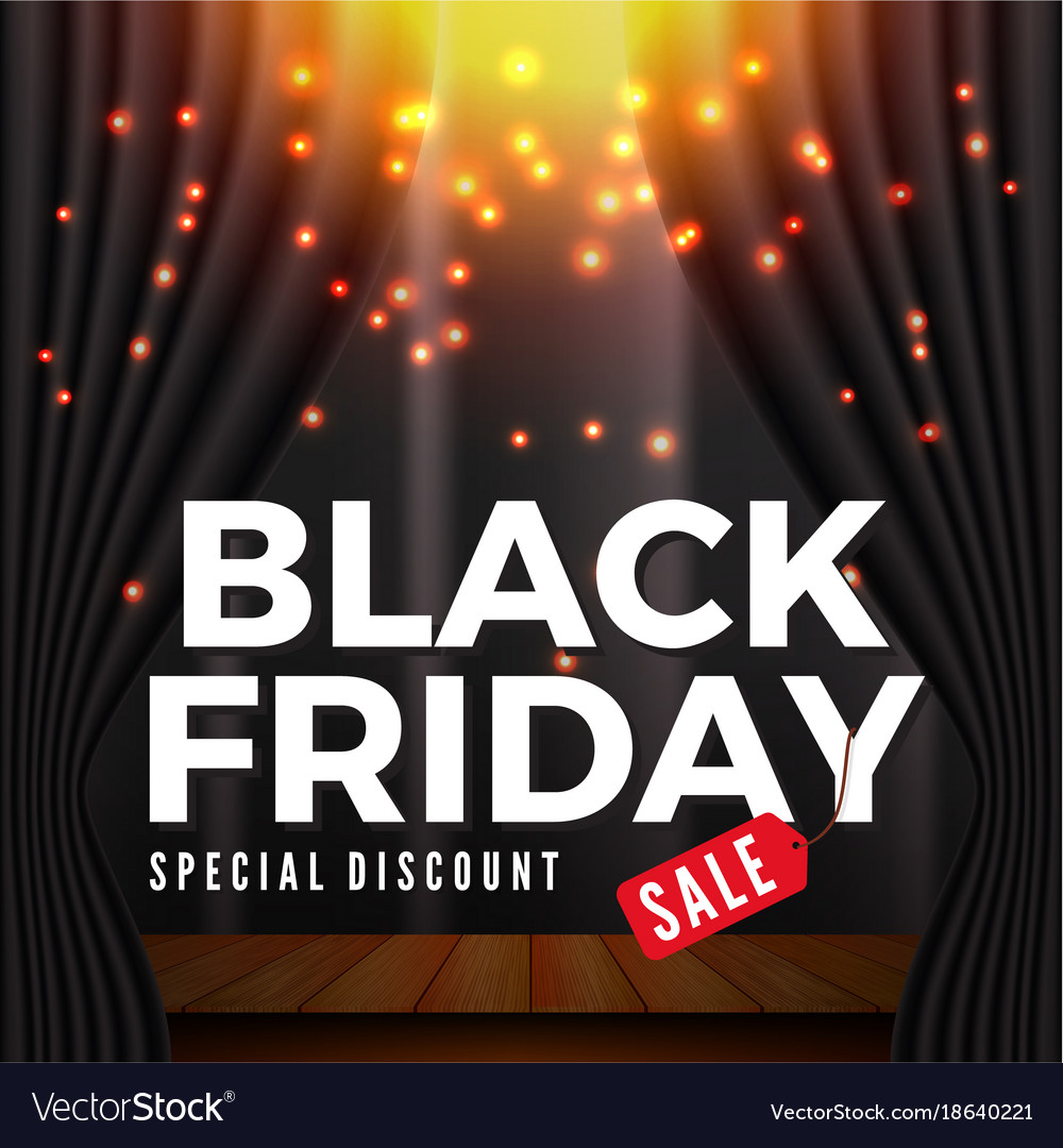 Black Sale Black Friday Sale Banner Background Vector Image On Vectorstock