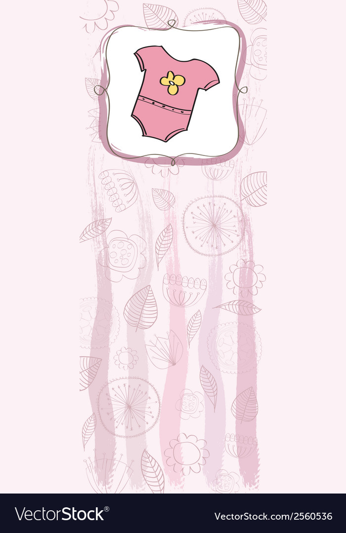 New baby girl announcement card Royalty Free Vector Image