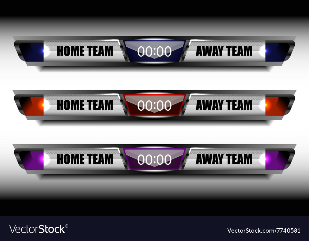 Sport team scoreboard template Royalty Free Vector Image