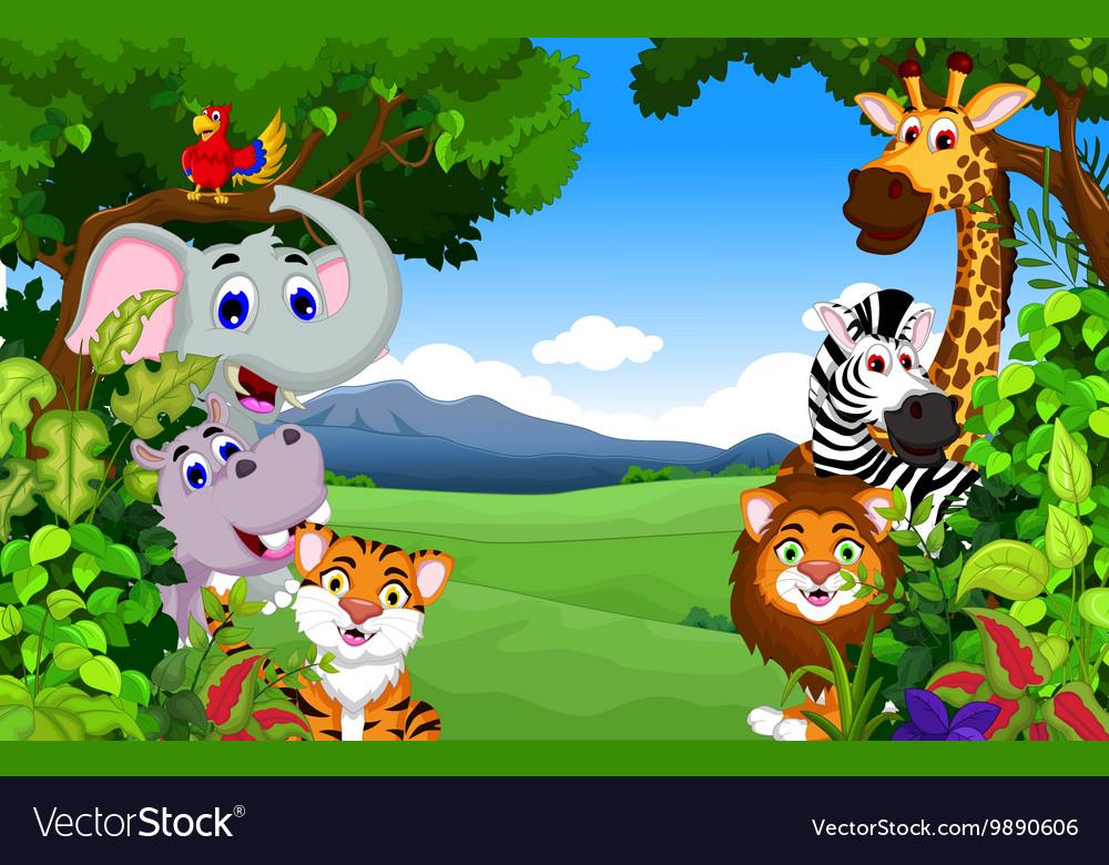 Zoo Animals Royalty Free Vector Image Vectorstock
