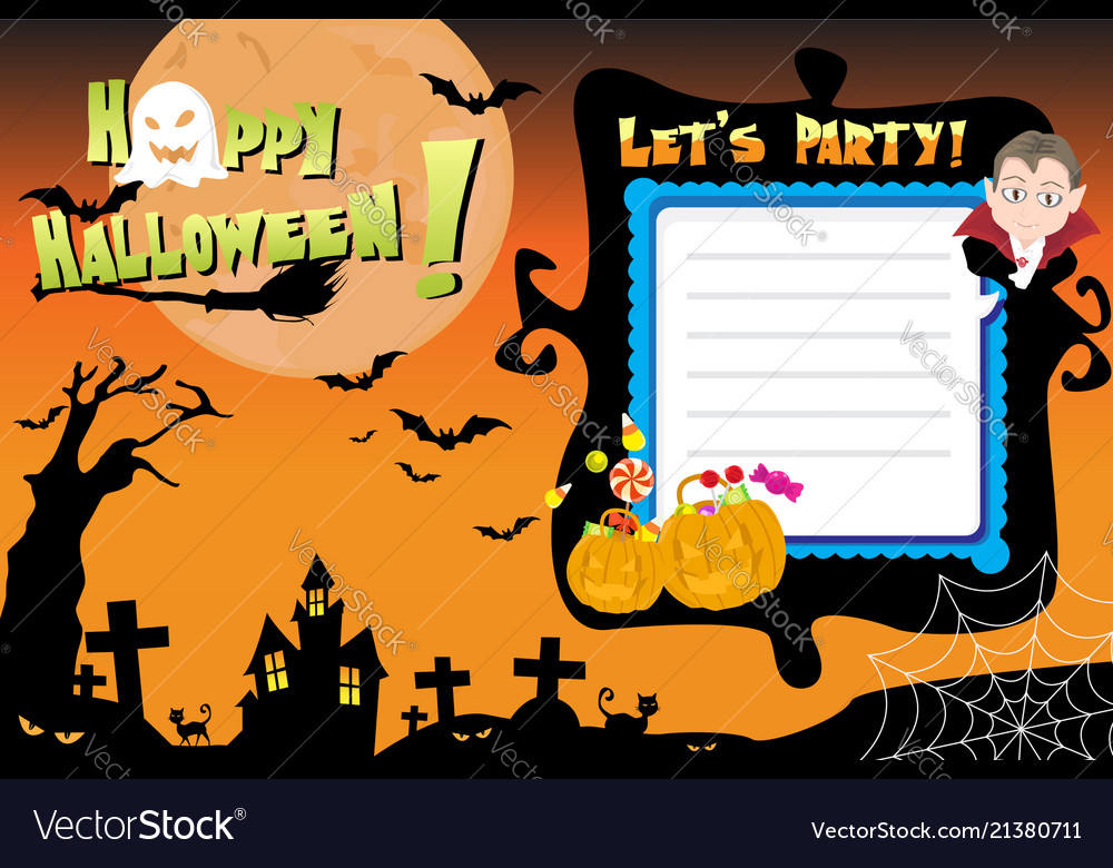 Halloween invitation flyer Royalty Free Vector Image