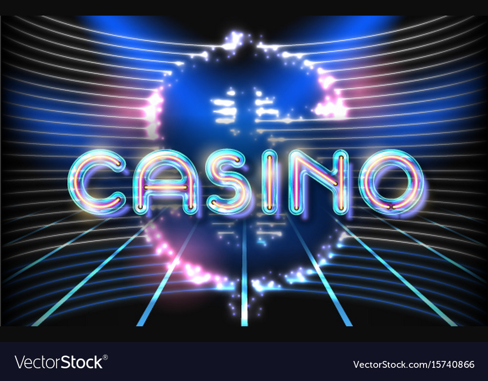 Jackpot casino neon lettering Royalty Free Vector Image