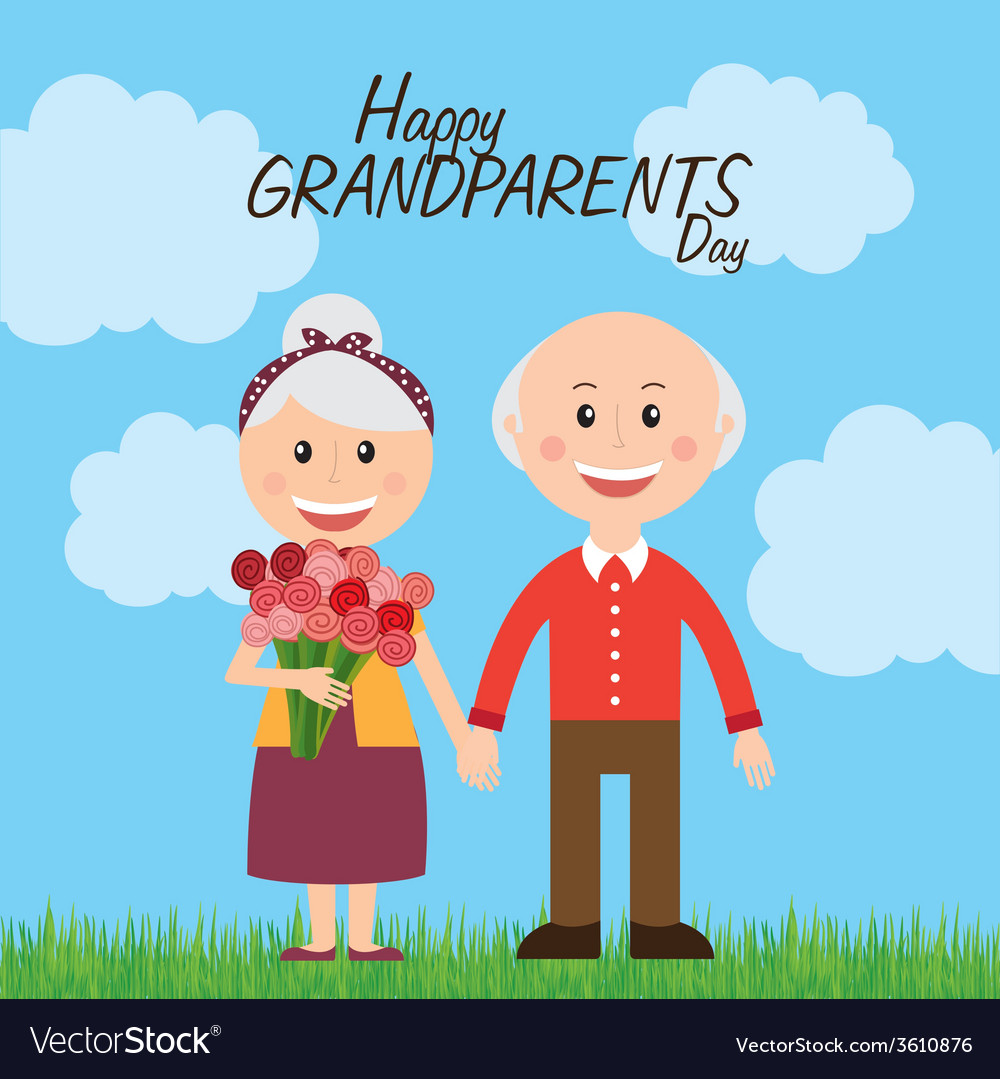 Time Wallpaper Quotes Happy Grandparents Day Royalty Free Vector Image