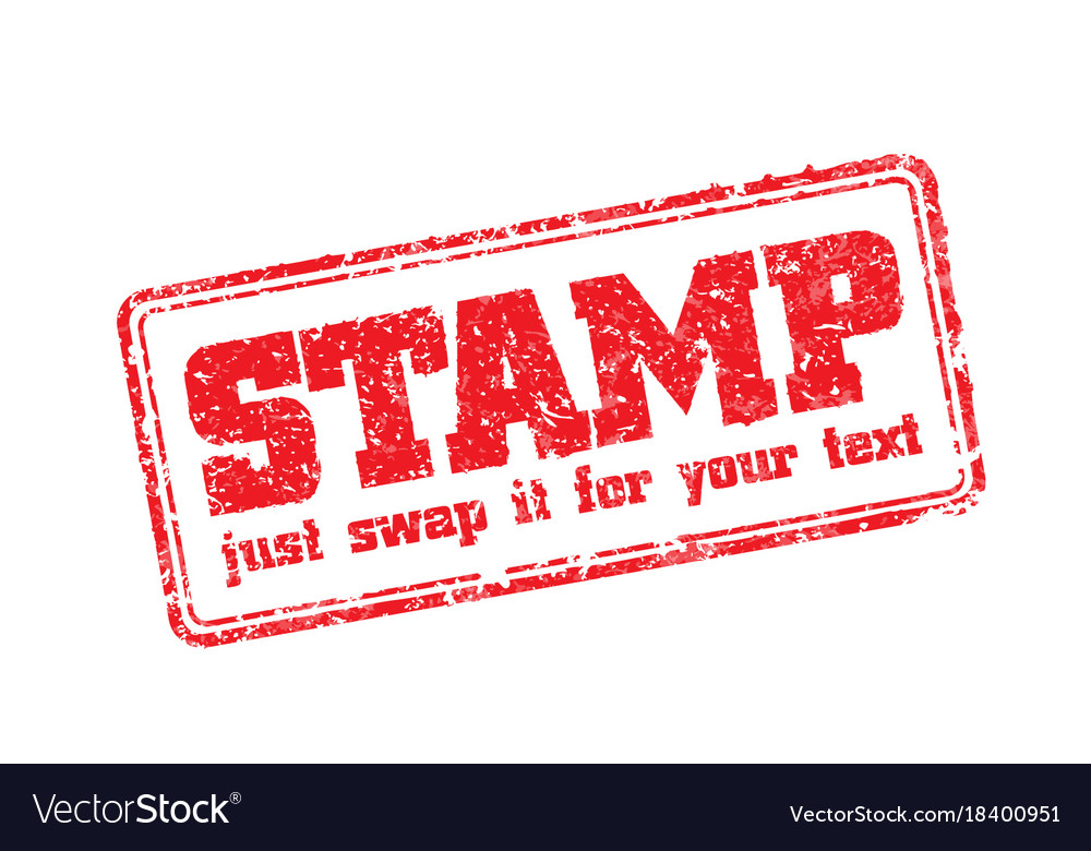 Rubber stamp template Royalty Free Vector Image - stamp template
