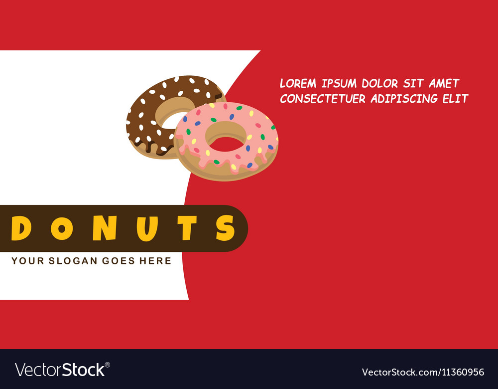 Donut food menu banner template Royalty Free Vector Image - donut template